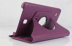 Best Deals - Premium Quality Leather Rotable Flip Stand Cover Case for Samsung Galaxy Tab4 8 inch T330/T331 PURPLE