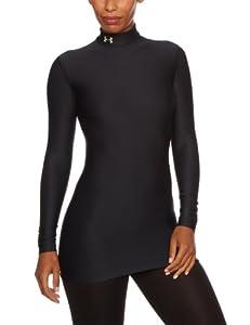 Under Armour Damen Shirt CG Compression Mock, Black/Slv, XS-001