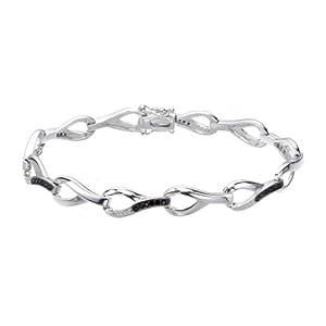 0.35 CT Black Diamond Bracelet in Sterling Silver