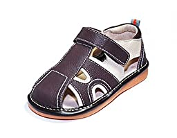 HLT Toddler/Little Kid Boy Summer Fun Brown Squeaky Sandal [US 4 / EU 20]