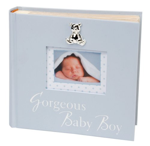"""Gorgeous Baby Boy"" Blue Keepsake Photo Album By Haysom Interiors - 1"