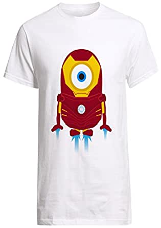 Minions Iron Man minion parody shirt Custom Fruit Of The Loom T-shirt