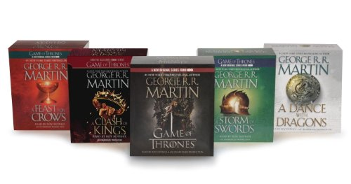 George R.R. Martin Song of Ice and Fire Audiobook Bundle: A Game of Thrones (HBO Tie-in), A Clash of Kings (HBO Tie-in), A Storm of Swords A Feast for Crows, and A Dance with Dragons