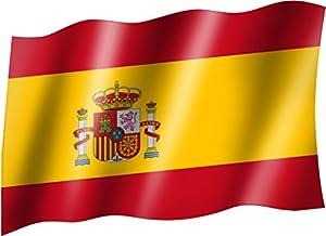 Flagge/Fahne SPANIEN mit Wappen Flagge/Fahne mit Ösen 150x90 cm, sehr gute Qualität