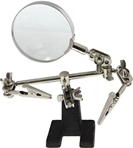 SE MZ101B Helping Hands with Magnifying Glass