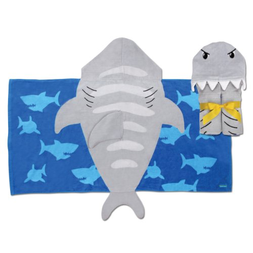 Stephen Joseph Little Boys' Hooded Towel, Shark, One Size