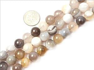 10mm Round Gemstone Botswana agate beads strand 15