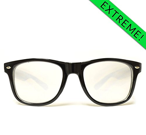 GloFX Ultimate Extreme Diffraction Glasses - Black Light Diffracting Prism Glasses Double Effect Super Intense