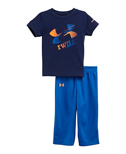 Under Armour Baby-Boys Infant I Will Set, Deep Space Blue, 18 Months front-114964