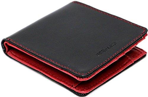 (マルカワジーンズパワージーンズバリュー) Marukawa JEANS POWER JEANS VALUE 財布 メンズ 二つ折り 本革 牛革 ステッチ 2color Free ブラック