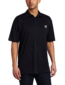 MLB Milwaukee Brewers Mens Drytec Genre Polo Knit Short Sleeve Top by Cutter & Buck