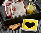 Love Infused Olive Oil and Balsamic Vinegar Dipping Plate in Gift Box - Wedding Favors and Party Guest Keepsake (Bulk Buy Sale!)
