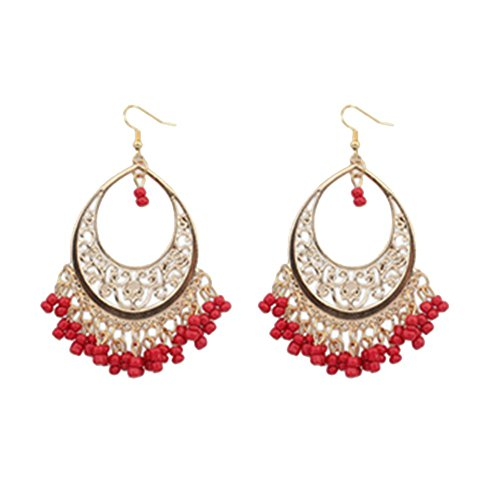 [Dasion European And American Female National Wind Bohemian Earrings Hollow Beads Earrings] (India National Costume For Male Kids)