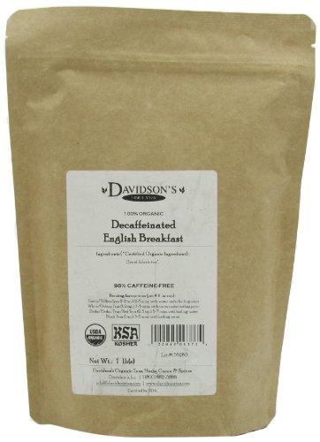 Davidson's Tea Bulk, Decaf English Breakfast, 16-Ounce Bag
