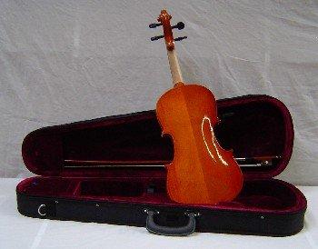 Crescent 3/4 Size Student Violin Starter Kit (Includes CrescentTM Digital E-Tuner)