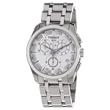 Tissot Men's TIST0356171103100 Couturier Silver Dial Watch by Tissot