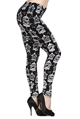 Banned Alternative Wear UK Black and White Birdcage Leggings