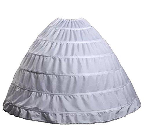 Wantdo Drawstring Belle Costume Petticoat 6 Hoops
