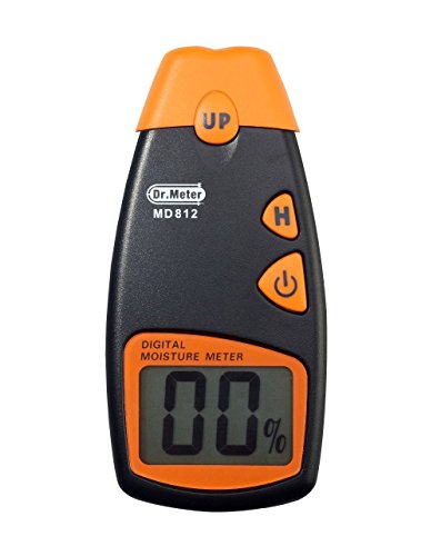 Dr. Meter® Md-812 Lcd Display Digital Wood Moisture Meter - To Measure The Percentage Of Water In Given Substance (Wood, Sheetrock, Carpets And More)