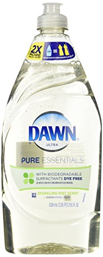 Dawn Ultra Pure Essentials Dishwashing Liquid, Sparkling Mist, 21.6 Ounce (Hypoallergenic Dishwashing Liquid compare prices)