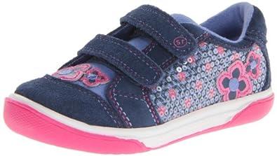 Stride Rite Ryder Sneaker (Toddler),Navy/Pink,4 M US Toddler