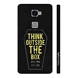 Huawei Mate S Think outside the box designer mobile hard shell case by Enthopia