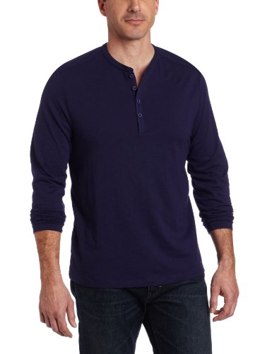0f466afd6c Perry Ellis Men s Long Sleeve 4 Button Henley