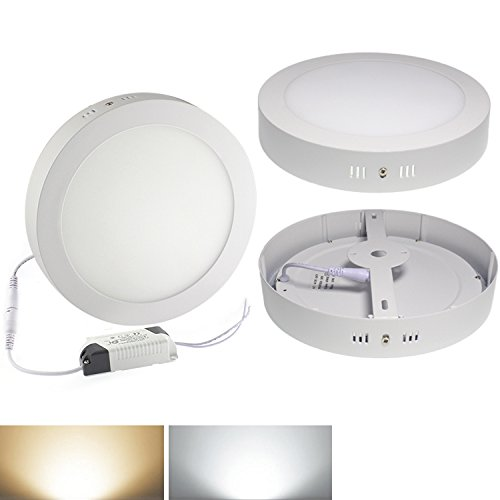 Se White 18W Dimmable Led Surface Panel Wall Ceiling Down Lights