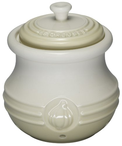 Le Creuset Stoneware Garlic Keeper in Almond
