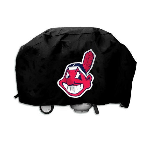 MLB Cleveland Indians Deluxe Vinyl Padded Grill Cover, Black at Amazon.com