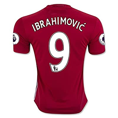 IBRAHIMOVIC 9 Manchester United 16/17 Soccer Jersey Men's Home Color Red Size M
