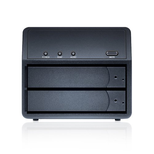 Sans Digital MR2UTPlusB Mobileraid-2 Bay Sata to Esata/Usb 3.0 Raid 0/1/Jbod/Spanning Enclosure (Black)