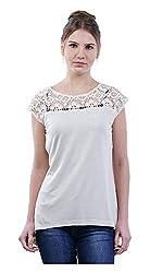 MERCH21 Women's Regular Fit Top (MERCH-370-OFF-WHITE, White, L)