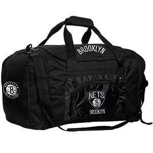 NBA New Jersey Nets Roadblock Duffel Bag, Black by Concept 1