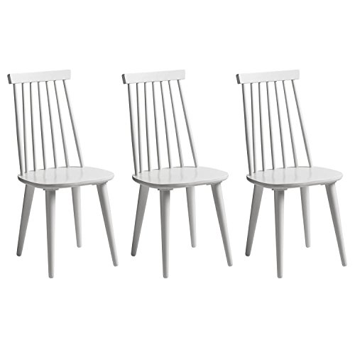 1fb5996acddb8 Cheap Premier Housewares 3 Piece Home Dining Furniture White Wood ...