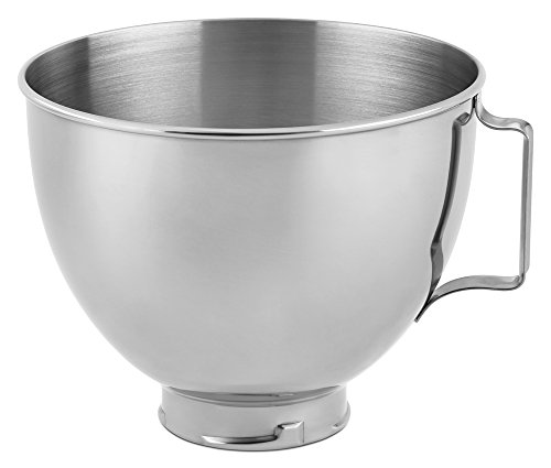 KitchenAid Stainless Steel Bowl K45SBWH, 4.5-Quart (Kitchenaid Stainless Attachments compare prices)