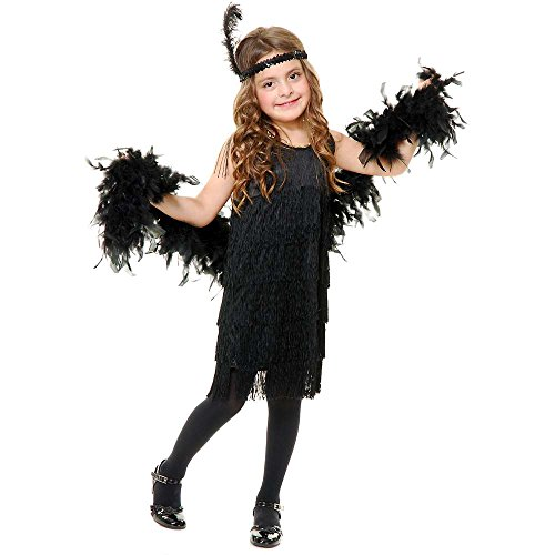Black Fashion Flapper Girl Kids Costume