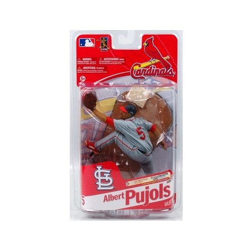 McFarlane Toys MLB Sports Picks Series 27 Action Figure Albert Pujols (St. Louis Cardinals) Grey Uniform Civil Rights Game 2010 Patch Silver Collector Level Chase at Amazon.com