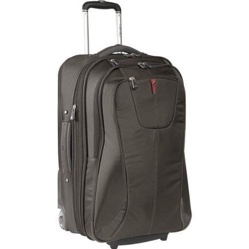 High Sierra 25-Inch Expandable Wheeled Upright Bag,Slate front-603232