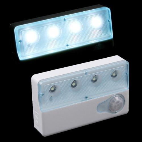 Kingzer Infrared Pir Auto Sensor Motion Detector 4 Led Light Bulb