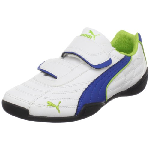 PUMA Tune Cat B Hook-And-Loop Fashion Sneaker (Toddler/Little Kid),White/Snorkel Blue/Tender Shoots,9 M US Toddler