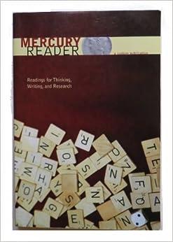 Pearson - Pearson Custom Library: English/The Mercury Reader