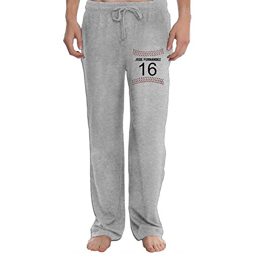 Men's Athletic Sweatpant - Jose Fernandez Marlins 2016 RIP Casual Long Pant With Pockets For Workout Gym Running Ash X-Large (Scandia Woods Cargo Pants compare prices)