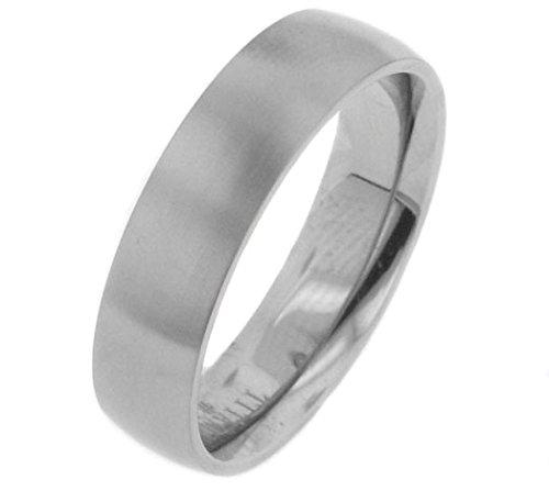 Satin Finish Titanium Metal Wedding Band Ring Size 11