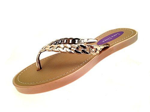 womens-summer-sandals-chain-toe-posts-rose-gold-size-uk-5