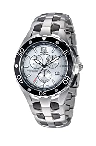 dab4af0028c Buy Sector 340 Series Watch Chronograph Silver Dial Black Bezel and Stainless  Steel Bracelet at £