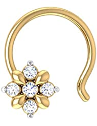 Aamanat Out Of The World Nosepin For Women In Sterling Silver & Swarovski Crystal ASN128