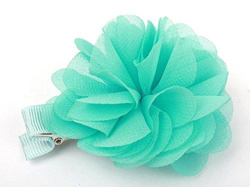 花 ヘアピン ブルー 大人子ども学生 髪飾り フラワー