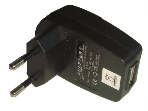 NETZTEIL LADEKABEL LADEGER&#196;T USB BUCHSE ADAPTER LADEADAPTER 220V schwarz f&#252;r APPLE IPOD