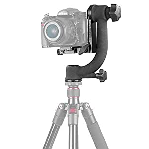 Neewer Professional Heavy Duty Metal Gimbal Tripod Head with Arca Swiss Standard Quick Release Plate for Digital SLR Cameras